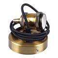 Antik hatású fém E27 foglalat, lámpaernyő tartós - antik arany
