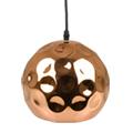 Fém csillár (E27), felfüggeszthető, gömb bura, S, rose gold