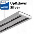 Row-Double irodai LED világítás (60W) - ezüst ház - 4000K (sorolható) UGR6