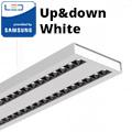 Row-Double irodai LED világítás (60W) - fehér ház - 4000K (sorolható) UGR6