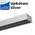 Row-Single irodai LED világítás (60W) - ezüst ház - 4000K UGR6