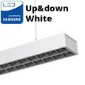 Row-Single irodai LED világítás (60W) - fehér ház - 4000K UGR6