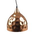 Fém csillár (E27), függeszthető, harang forma, XL, rose gold