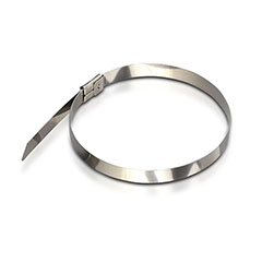 Fém gyorskötöző, kábel kötegelő (4.6x300 mm - 100 darab) rozsdamentes acél