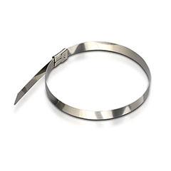 Fém gyorskötöző, kábel kötegelő (4.6x350 mm - 100 darab) rozsdamentes acél