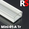 - MINI-01-A - Alumínium RS profil (felületre) LED szalaghoz, átlátszó burával