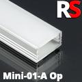 - MINI-01-A - Alumínium RS profil (felületre) LED szalaghoz, opál burával