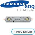GOQ Samsung LED modul (5050x2/150°/IP68) - 11000K (5 ÉV)