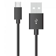 Silver USB - Micro USB adatkábel, töltőkábel (1 méter) fekete - USB 2.0