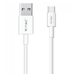 Silver USB - USB-C adatkábel, töltőkábel (1 méter) fehér - USB 2.0