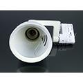 Sínes lámpatest (3F) PAR30 - E27 foglalattal - fehér - Kifutó!