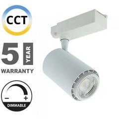 Sínes LED lámpa (3in1 színhőmérséklet, dimmelhető) - 35W (állítható sugárzási szög 20-60°) - fehér CRI>95
