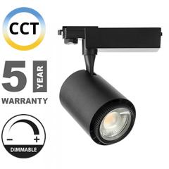 Sínes LED lámpa (3in1 színhőmérséklet, dimmelhető) - 35W (állítható sugárzási szög 20-60°) - fekete CRI>95