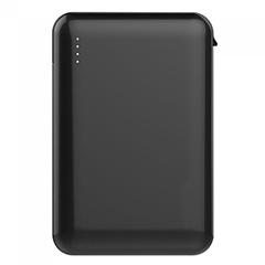 PowerBank külső akkumulátor SuperSmall kábellel (2xUSB) fekete - 5000 mAh