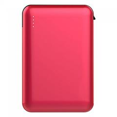 PowerBank külső akkumulátor SuperSmall kábellel (2xUSB) piros - 5000 mAh