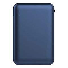 PowerBank külső akkumulátor SuperSmall kábellel (2xUSB) kék - 5000 mAh