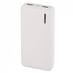 PowerBank külső akkumulátor Mega (2xUSB) fehér - 20000 mAh