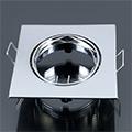 - Olcsó slim design spot lámpatest (négyzet), billenthető, króm
