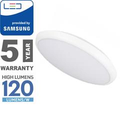 Slim Dome LED UFO lámpatest (12W - IP65) kör, hideg fehér