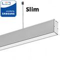 Slim irodai függeszthető LED lámpatest (40W) ezüst ház - 4000K - sorolható