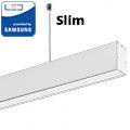 Slim irodai függeszthető LED lámpatest (40W) fehér ház - 4000K - sorolható