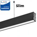 Slim irodai függeszthető LED lámpatest (40W) fekete ház - 3000K - sorolható