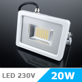 Slim LED reflektor (20 Watt/100°) Fehér ház, Hideg fényű