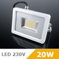 - AKCIÓ: Slim LED reflektor (20 Watt/100°) Fehér ház, Meleg f.