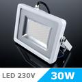 Slim LED reflektor (30 Watt/100°) Fehér ház, Hideg fényű