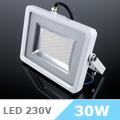 Slim LED reflektor (30 Watt/100°) Fehér ház, Természetes fény