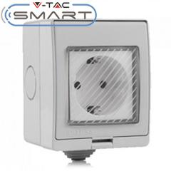 Smart fali aljzat - Wi-Fi vezérlés okos készülékekkel (IP55) kültéri, csapfedeles