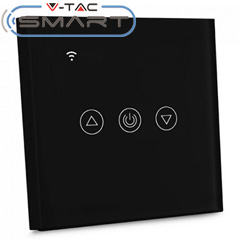 Glass Touch - Smart fali érintős fényerőszabályzó, Wi-Fi vezérlés mobillal, fekete