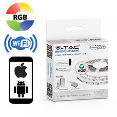 Smart LED szett beltéri: 5 méter RGB+Wi-Fi vezérlő+tápegység 5050-60