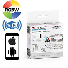 Smart LED szett beltéri: 5 méter RGBW+W - Wi-Fi vezérlő+tápegység 5050-60