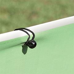 Rögzítő a fűzőlyukkal rendelkező árnyékolóhoz - gumikötöző (20 db)
