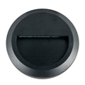 StepLight (kör alakú, fekete) lépcsővilágító - 2W (3000K)