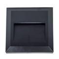 StepLight (négyzet alakú, fekete) lépcsővilágító - 2W (3000K)