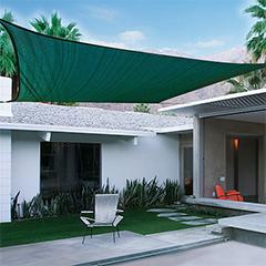 SUNNET KIT négyzet alakú, szőtt napvitorla (árnyékoló) zöld - 3.6 x 3.6 m