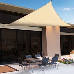 Sunnet Kit Polyester háromszög alakú napvitorla (árnyékoló) bézs - 3.6 x 3.6 x 3.6 m