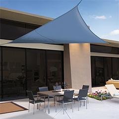 Sunnet Kit Polyester háromszög alakú napvitorla (árnyékoló) kék - 3.6 x 3.6 x 3.6 m