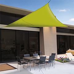 Sunnet Kit Polyester háromszög alakú napvitorla (árnyékoló) zöld - 3.6 x 3.6 x 3.6 m