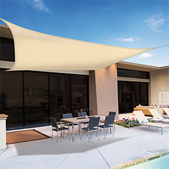 Sunnet Kit Polyester négyzet alakú napvitorla (árnyékoló) bézs - 3.6 x 3.6 m