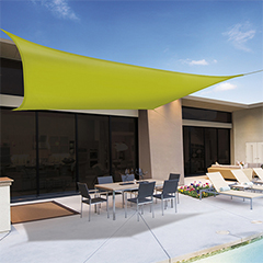 Sunnet Kit Polyester négyzet alakú napvitorla (árnyékoló) zöld - 3.6 x 3.6 m