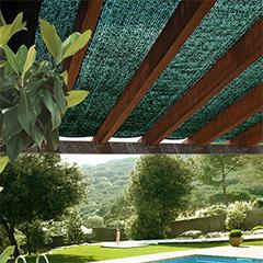Árnyékoló háló kerítésre pergolára, 70%-os takarás SUN-NET (3x4 méter) zöld