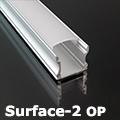 Surface-2 Alumínium U profil ezüst, LED szalaghoz, opál burával