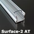 Surface-2 Alumínium U profil ezüst, LED szalaghoz, átlátszó burával