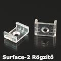 Surface-2 Tartó-, rögzítő elem alumínium LED profilhoz, átlátszó