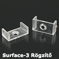 Surface-3 Tartó-, rögzítő elem alumínium LED profilhoz, átlátszó