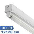 T8 szabadonsugárzó lámpatest 1 db 120 cm-es LED fénycsőhöz