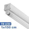 T8 szabadonsugárzó lámpatest 1 db 150 cm-es LED fénycsőhöz